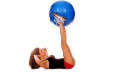 Séance d'entraînement sexy de medicine-ball Images stock