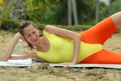 Séance d'entraînement sur la plage Photo libre de droits