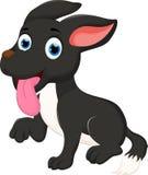 Séance de bande dessinée de chien noir images libres de droits