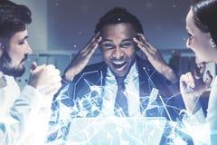 Séance de réflexion d'équipe d'affaires, polygones Photo stock