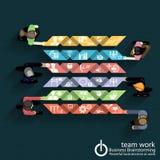 Séance de réflexion d'affaires de travail d'équipe de vecteur Image stock