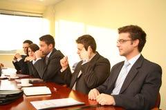 Séance de réflexion de salle de réunion photo libre de droits