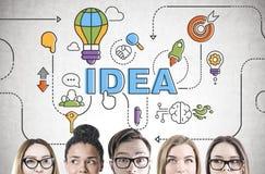 Séance de réflexion diverse d'équipe d'affaires, tête, idée photos stock