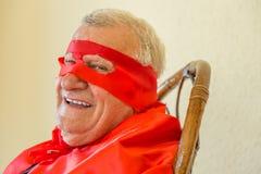 Séance de sourire de super héros Image libre de droits