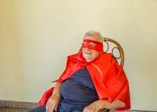 Séance de sourire de super héros Photographie stock
