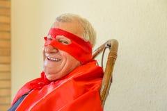 Séance de sourire de super héros Photographie stock libre de droits