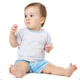 Séance et hamming de bébé image stock