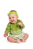 Séance et pleurer tristes de bébé photographie stock