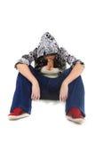 Séance fatiguée de danse d'houblon de gratte-cul Image stock