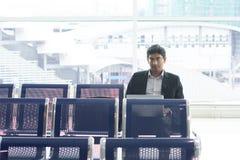 Séance indienne asiatique d'homme d'affaires Images libres de droits