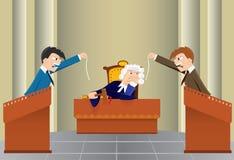 Séance juridique de dessin animé (vecteur, CMYK) Photos stock