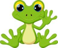 Séance mignonne de bande dessinée de grenouille illustration stock