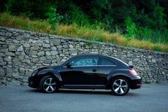 Séance photo de la vue au sol de coupé de voiture allemande rapide de symbole Photos stock