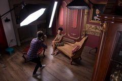 Séance photo du grand modèle Image stock