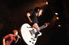 Sébastien Lefebvre, guitarrista do plano simples imagem de stock
