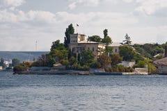 SÉBASTOPOL, CRIMÉE - 18 septembre 2011 Le bord de mer de Sevas Photos stock