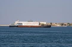 SÉBASTOPOL, CRIMÉE - 18 septembre 2011 Le bord de mer de Sevas Photographie stock