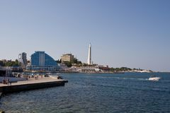 SÉBASTOPOL, CRIMÉE - 18 septembre 2011 Le bord de mer de Sevas Image libre de droits