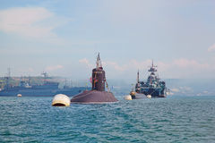 SÉBASTOPOL, UKRAINE -- 12 MAI : Célébrant 230 ans de la flotte de la Mer Noire le 12 mai 2013 Photographie stock