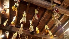 Séchage d'herbe dans Trattoria, Rome, Italie photo stock