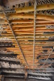 Séchage de bâtons de cannelle Marécages de ganga de Madu Balapitiya Le Sri Lanka Images stock