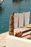 Séchage de blanchisserie au soleil Photographie stock libre de droits