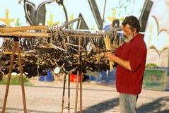 Séchage de catshark de Blackmouth au soleil Image stock