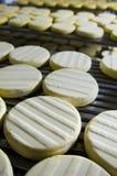 Séchage de fromage Photo libre de droits