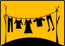 séchage de vêtements illustration de vecteur