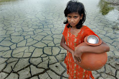 Sécheresse et eau de pluie Photo libre de droits