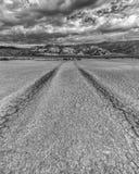 Séchez lakebed en parc d'état de désert d'Anza Borrego Images libres de droits