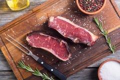 Séchez le bifteck âgé de New York Image stock