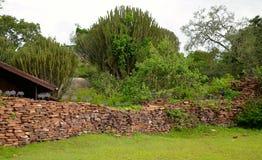 Séchez le mur de pile Photo libre de droits