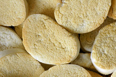 Séchez les parts cuites à la vapeur de pain photo libre de droits
