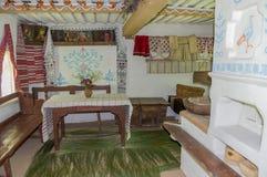 Século XVI da casa de moradia interior Fotografia de Stock