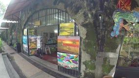 Século XVI interno das lojas de lembrança a cidade murada intra muros video estoque