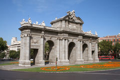 Século XVIII Puerta de Alcala. Imagem de Stock