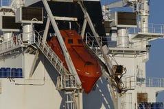 Sécurité à bord de navire de marine marchande moderne images libres de droits