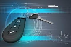 Sécurité à télécommande pour votre voiture Image libre de droits