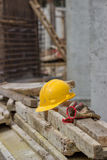 Sécurité au chantier de construction Images libres de droits
