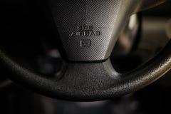 Sécurité au volant supplémentaire d'airbag de système de retenue de SRS Images libres de droits