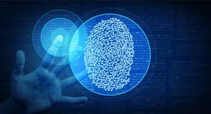 Sécurité biométrique Access de Cyber d'identité illustration de vecteur