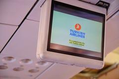 Sécurité d'abord de Turkish Airlines photo libre de droits