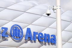 Sécurité d'arène d'Allianz Image stock