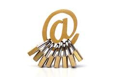 Sécurité d'email photo stock