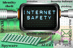Sécurité d'Internet Images libres de droits