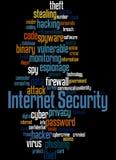 Sécurité d'Internet, concept 3 de nuage de mot illustration stock