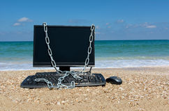Sécurité d'ordinateur, règle d'exonération Photo libre de droits