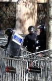 Sécurité dans des rues de Barcelone pendant la verticale du Conseil des ministres photographie stock libre de droits