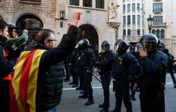 Sécurité dans des rues de Barcelone pendant le Conseil des ministres photos stock